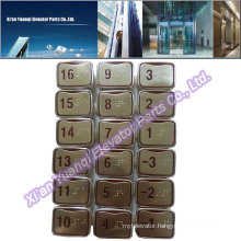 Brand new LG Buttons Elevator Lift Spare Parts Braille Stainless Steel Push Call Button