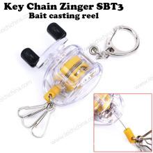 Nouveau outil de pêche Bait Casting Key Chain Reel Zinger