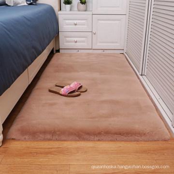 Factory price wholesale super soft floor faux rabbit fur rug