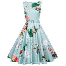 Belle Poque 40 Patterns Summer Clothes Women Stock Sleeveless 50s 60s Robe Femme Pin Up Retro Rockabilly Dress BP000002-39
