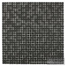 Mosaïque en cristal de mélange noir pour la décoration de salle de bain