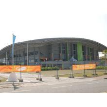 Piscine avec hangar préfabriqué en acier structurel de toiture de cadre en métal