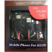 MHL vers HDMI Câble adaptateur pour Galaxy S5 S4 9500