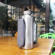Vacuum wallet bottle stainless steel, earphone carrying water bottle, bottle with earphone carrying case