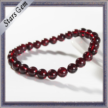5 to 10mm Natural Garnet Bracelet Garnet Beads