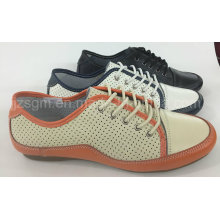Moda leve Lace-up Brogue Mulher Casual Shoes