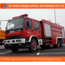6 * 4 caminhões de combate a incêndio (tanque de água, tanque de espuma, poder seco)