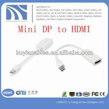 Белый Mini DP-HDMI кабель-переходник для женщин на Apple Macbook