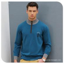 Suéter de punto de cachemira de algodón de los hombres