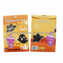 Impressão de cartões Scratch Art Design Helloween