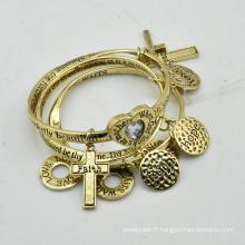 VAGULA Fashion plaqué or Charms Bracelet ensembles E10778