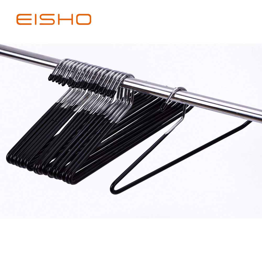 Eisho Wholesale Black Metal Clothes Smooth Pvc