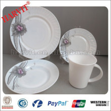 New items opal glass dinnerware manufacturers/opal round dinner plates, V-shape mug/microwave safe plate opal glass