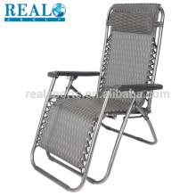 Cadeira de dobramento de pouco peso do curso para a cadeira de dobradura de acampamento da gravidade zero com quadro de alumínio do punho