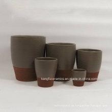 Florero de cerámica de encargo del color de la cerámica