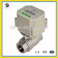 Válvula de encaixe elétrica elétrica quente com cartão pré-pago para HVAC e sistema de aquecimento