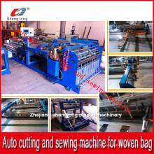 Китай Поставщик Автоматическая резка и швейная машина для PP Пластиковый тканый мешочек