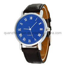 OEM моды металл Кварцевые наручные часы с кожаный Браслет