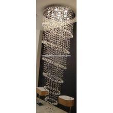 Заказной отель для лестницы Проект потолочная лампа K9 Crystal Grand Chandelier