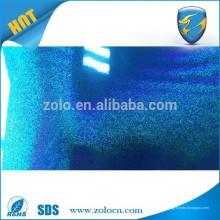 2015 venda quente de embalagem anti-contrafacção filme de laminação holografica transparente azul