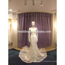 Custom 2017 temperament sexy elegant elegant sling dew deep V mermaid lace wedding dress skirt LJ-10013