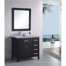 Muebles de baño de madera de la venta caliente del estilo americano con los fregaderos