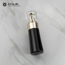 Schwarze kosmetische Packlotionsflasche aus Acryl mit Pumpe
