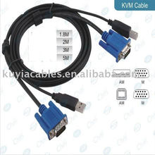 Black 6FT USB 2.0 KVM Cable Working with USB KVM switches