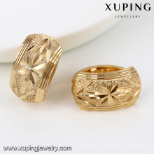 92044-Xuping Jewelry Fashion Latest Design 18K Gold Plated Hoop Earring