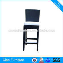 High back comfortable wicker bar stools for sale
