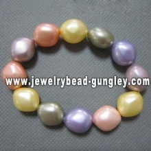 Wedding bracelet irregular shape pearl