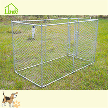 Zilver Gegalvaniseerde Chain Link Pet Dog Kennel