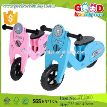2015 New products fashion lovely design 2 wheels wooden push scooter for sale