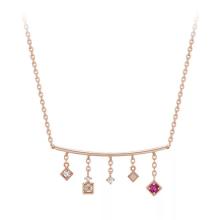 925 sterling silver cz necklace pendant fashion multi-shape beautiful necklace wholesale