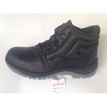 Chaussure de sécurité du travail avec Split haut relief en cuir d'unité centrale seule