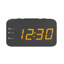 Neue tragbare Mini Digital Wecker Radio USB wiederaufladbare rote LED Dual Alarm Radio Clock