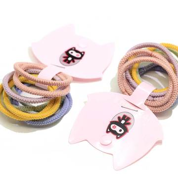 Multicolor Baby Girls Elastics Hair Ties No Metal Elastic Hair Bands Beauty Large No-damage Pastel Elastics Ponytail Holders