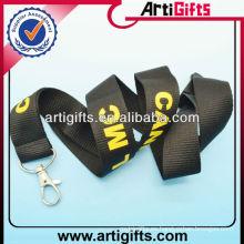 Cordón grueso personalizado promocional con gancho de metal