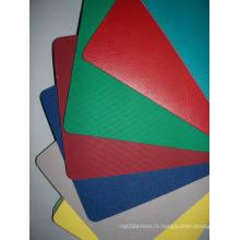 Plancher Litchi Pattern PVC Sports pour les cours intérieurs de basketball