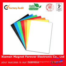 Colorful Self Adhesive Flexible Rubber Magnetic A4 Paper