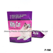 Zipper Stand up Cat Pouch with Bottom Gusset