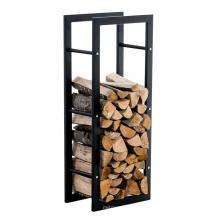 Removable Storage Shelf Metal Indoor Firewood Rack