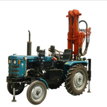 tractor water well drilling rig use air compressor rock drilling