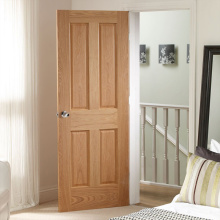 Portes de chambre à coucher simples en bois pur massif
