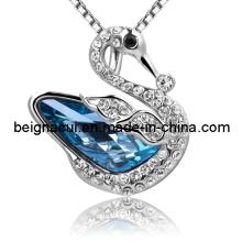 Sw Elements Crystal Indicolite Color Swan Necklace
