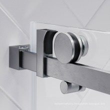 Single sliding bath screen accessories fittings frameless glass shower door hardware
