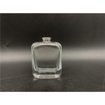 Flacon de parfum carré en verre transparent de 30 ml