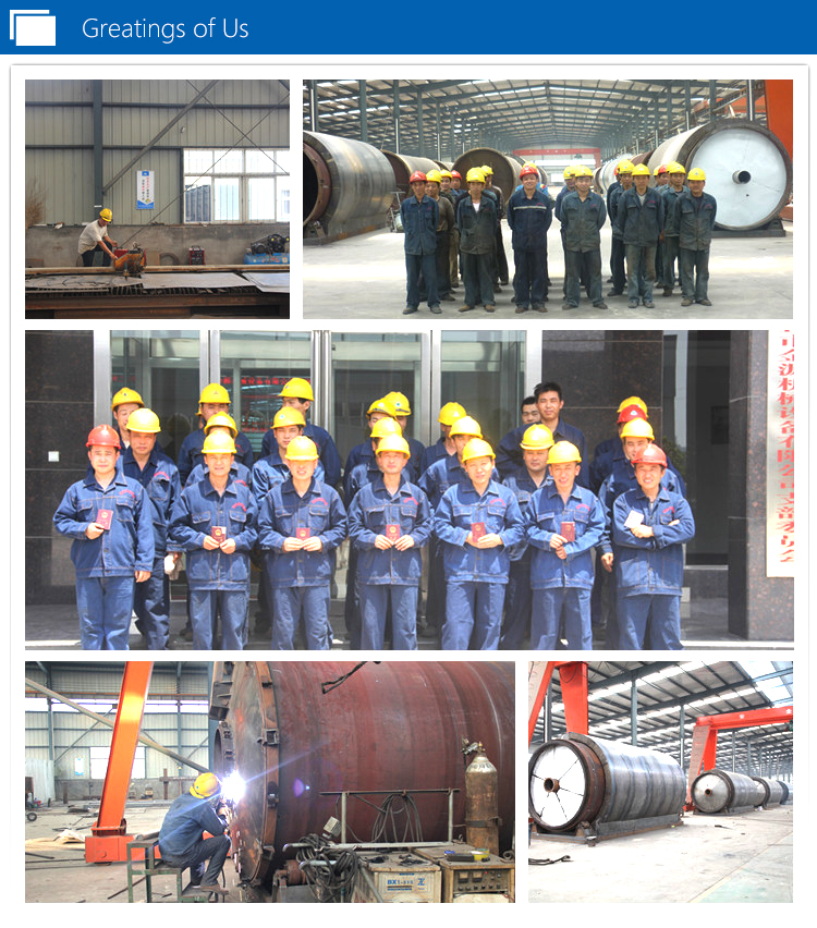 waste tyre to oil refining plant
