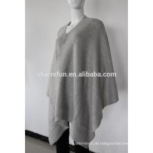 Mode Rippe gestrickt Kaschmir Poncho zu verkaufen