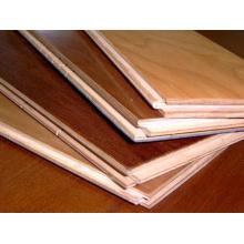 Revestimento de madeira do parquet de alto brilho do revestimento de madeira das seleções do estilo de Kempas
